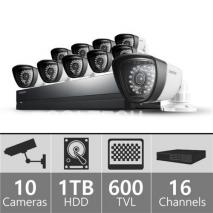 Samsung SDSP5101N 16ch Security Camera System 110 - 240 VOLTS