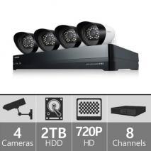 Samsung SDHP4040N 8ch Hybrid Security Camera System 110 - 240 VOLTS