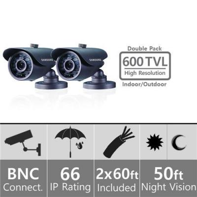 Samsung SDC5440BCD Weatherproof Night Vision Camera BNC Double Pack 110 - 240 VOLTS