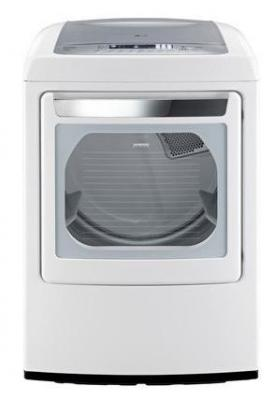LG DLGY1202W 7.3 CU.FT. ULTRA LARGE CAPACITY GAS STEAM DRYER W/ FRONT CONTROL FACTORY REFURBISHED (ONLY FOR USA)