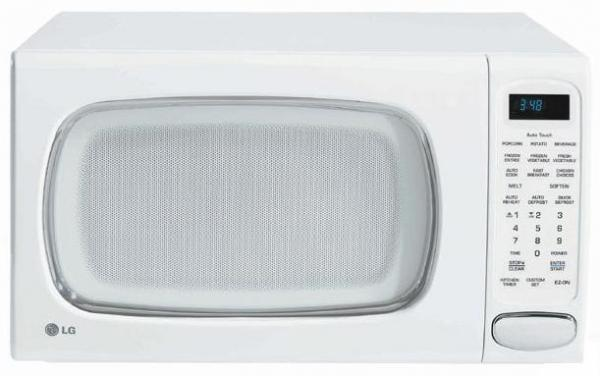 Lg Lrm1250w 1 2 Cu Ft Microwave 10 Levels 7 Digital Scroll Vfd Display White Factory Refurbished For Usa