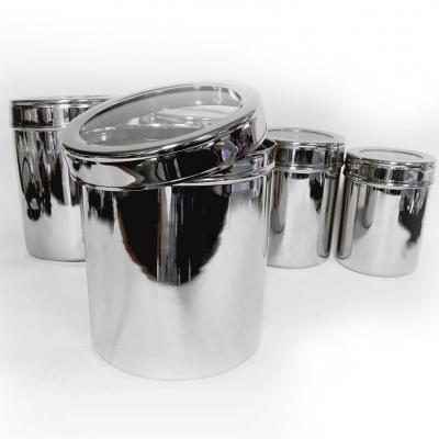 Matbah SS-CAN-5PC Stainless Steel 5-Piece Canister Set with Lid