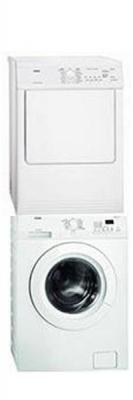 AEG  L6027FL/T65170AV  WHITE WASHER DRYER SET WITH STACKING KIT 220-240 VOLTS/ 50 HERTZ
