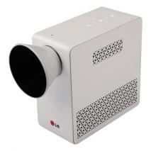 LG PG65U DLP Projector - 720p - HDTV - 16:10 - 1280 x 800 - WXGA - 100,000:1 - 500 lm - HDMI - USB - VGA In - Wireless LAN - Built-in - TV Tuner - 65 W - White Color REFURBISHED