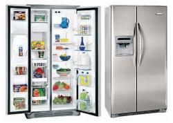 White Westinghouse WSPE25V9GS 22.6 cu.ft Side by Side Refrigerator 220-240 Volt/ 50-60 Hz