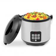 Saachi SA-RC200 Rice Cooker with Food Steamer, Stainless Steel,10-Cup 110 Volt (Only For USA)
