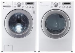 LG WM2250CW 3.6 cu. ft. Front Load Washer 6 Motion Technology / DLE2250W 7.1 Cu. Ft. Electric Dryer Set -White FACTORY REFURBISHED (ONLY FOR USA )