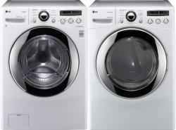 LG WM2650HWA 3.6 cu. ft. Front Load SteamWasher / DLEX2650W 7.3 Cu. Ft. Electric Steam Dryer-White