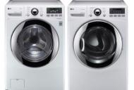 LG WT5170HW 4.7 cu. ft.Top Load Washer W/ Waveforce, Coldwash / DLGX5171W 7.3 Cu. Ft. Steam Gas Dryer-White Factory Refurbished.