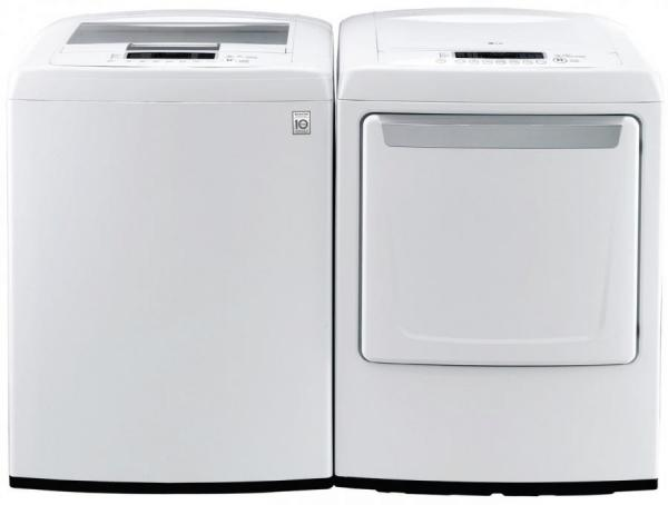 Lg Wt1101cw 4 3 Cu Ft Top Load Washer Dlg1102w 7 3 Cu