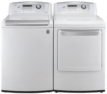 Lg Wt4901cw 4 7 Cu Ft Top Load Washer W Waveforce Coldwash Dlg4902w 3 Gas Dryer White