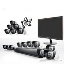 Samsung  SCA-P5160N  16 Channel Complete Security Camera System Package with 6 Soltech Dome Cameras 110-220 volts