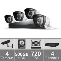Samsung SDS-P3042 - 4ch Security Camera System 110-220 volts