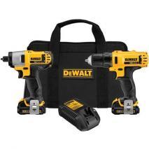 DeWalt DCK211S2 12V Screwdriver Impact Driver Combo Kit 220 volts