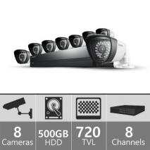 Samsung  SDS-P4082 - 8ch 960H Security Camera System