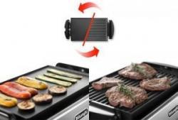 DeLonghi DEBGR50 Grills Reversible Die-Cast Electric Grill 220-240 Volt/ 50-60 Hz