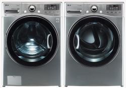 LG Washer WM3470HVA TurboWash ColdWash 6Motion Steam 4.0 Cu. Ft. / DLEX3470V 7.3 Cu. Ft. Electric Dryer-Graphite Steel FACTORY REFURBISHED (ONLY FOR USA )