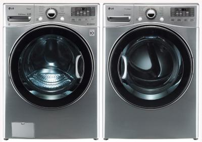 LG Washer WM3470HVA TurboWash ColdWash 6Motion Steam 4.0 Cu. Ft. / DLEX3470V 7.3 Cu. Ft. Electric Dryer-Graphite Steel FACTORY REFURBISHED (ONLY FOR USA )