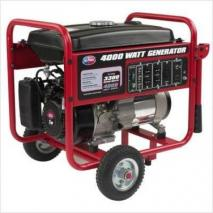 All Power APGG4000 4000 Watt Gasoline Generator with Battery Wheel Kit 220 volts