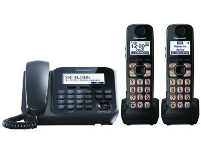 Panasonic KX-TG4772B three handset cordless phone 220-240 volts 50/60 hz