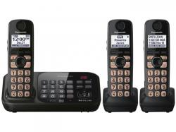 Panasonic KX-TG4743B DECT 6.0 Cordless Phone with 3 Handsets FOR 110-220 VOLTS