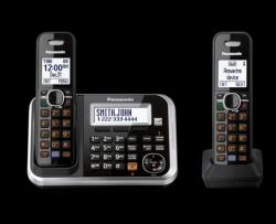 Panasonic KX-TG6842 Two Handsets Cordless Phone 220-240 volts 50/60 hz