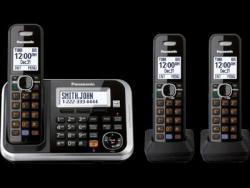 Panasonic KX-TG6843 Three Handsets Cordless Phone 110-220-240 volts 50/60 hz
