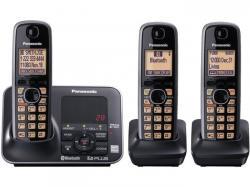 Panasonic KX-TG7623B three handset cordless phone  220-240 volts 50/60 hz