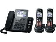 Panasonic KX-TG6843 Three Handsets Cordless Phone 110-220-240 volts 50/60 hz