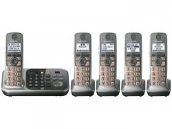 Panasonic KX-TG7745S five handset  cordless phone 220-240 volts 50/60 hz