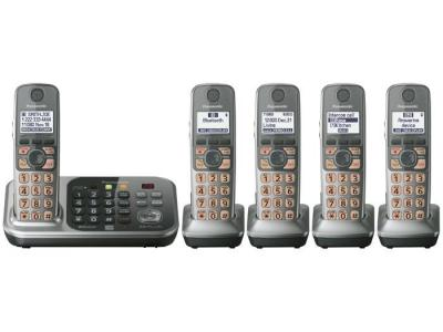 Panasonic KX-TG7745S five handset  cordless phone 220-240 volts 50/60 hz