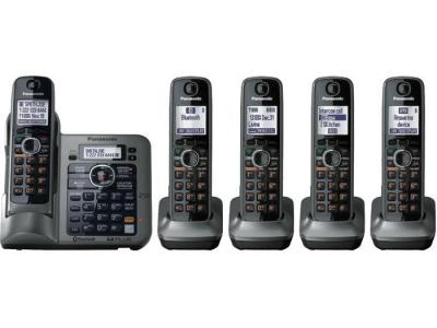 Panasonic KX-TG7645M five handset cordless phone 220-240 volts 50/60 hz