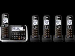 Panasonic kx-tg6845 five handsets cordless phone 220-240 volts 50/60 hz