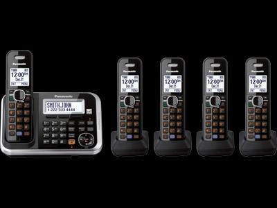 Panasonic kx-tg6845 five handsets cordless phone 110-220-240 volts 50/60 hz