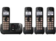 Panasonic KX-TG234 SK Dect 6.0 Plus Expandable Digital Cordless Phone System with 4 Handsets 110-240 VOLTS
