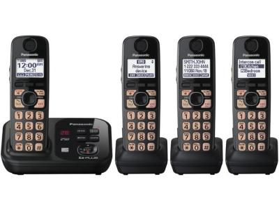 Panasonic kx-tg4734b four handset 220-240 volts 50/60 hz cordless phone