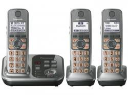 Panasonic kx-tg7733s three handset cordless phone 220-240 volts 50/60 hz