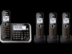 Panasonic kx-tg6844 four handsets cordless phone 110- 220-240 volts 50/60 hz