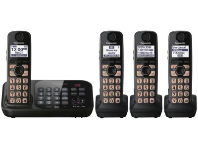 Panasonic kx-tg4744b four handset cordless phone 220-240 volts 50/60 hz