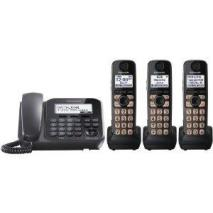 Panasonic KX-TG4773B 1 Corded, 3 Cordless Handsets 110-220 volts