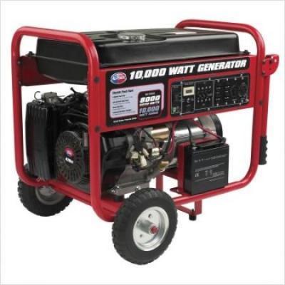 All Power APGG10000 10000 Watt Gasoline Generator With Battery & Wheel Kit