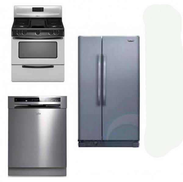 Kitchen Appliances Set: WHIRLPOOL KITCHEN APPLIANCES SET OF REFRIGERATOR