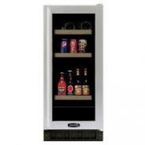 Marvel 3BARM-BS-G-R Wine & Beverage Cooler Black Cabinet, Stainless Frame Glass Door, Right Hinge