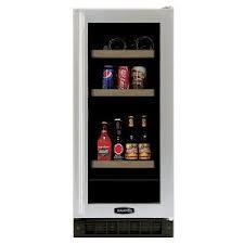 Marvel 3BARM-BS-G-R Wine & Beverage Cooler Black Cabinet, Stainless Frame Glass Door, Right Hinge