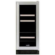 Marvel 3BARM-BD-R Wine & Beverage Cooler, Black Cabinet, Overlay Frame Glass Door, Right Hinge