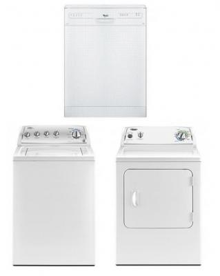 WHIRLPOOL HOME APPLIANCES SET OF WASHER DRYER AND DISHWAHER 220-240 VOLTS 50HZ PACKAGE 3