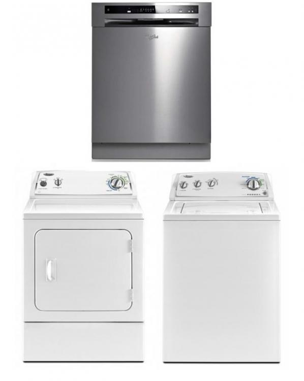 Whirlpool Home Appliances Set Washer And Dryer And Dishwaher 220 240 Volts 50hz Package 4