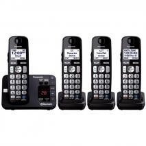 Panasonic KX-TG454SK 4 Handset Link to Cell Cordless Phone w/ Text Message Alert  (For 110 Volts Only for USA)