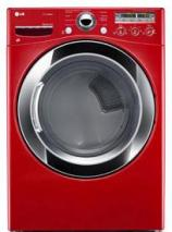 LG DLEX3250R 7.3 Cu. Ft. Electric Steam Dryer, Sensor Dry in Wild Cherry Red FACTORY REFURBISHED (FOR USA)