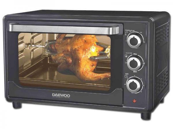 daewoo dot 1665 30 liter convection rotisserie toaster oven 220 volts not for usa 220v. Black Bedroom Furniture Sets. Home Design Ideas